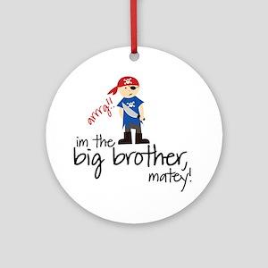 big brother shirt pirate Ornament (Round)