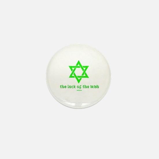 Luck of the Irish Jew Mini Button
