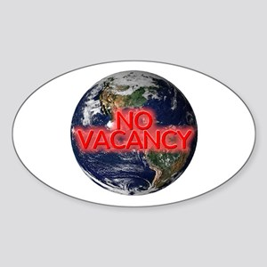 No Vacancy - Oval Sticker