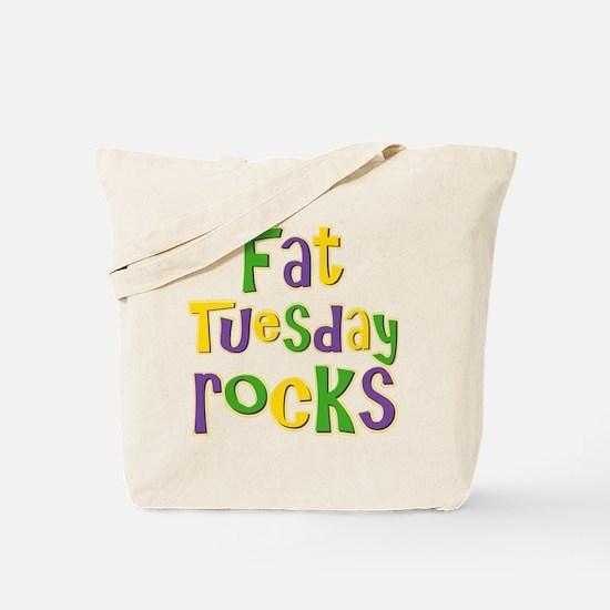 Fat Tuesday Rocks Tote Bag