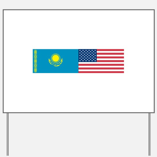 Kazakh and American Yard Sign