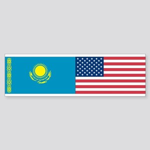 Kazakh and American Bumper Sticker