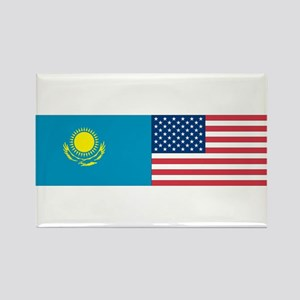 Kazakh and American Rectangle Magnet