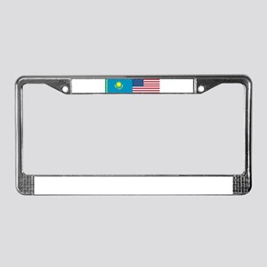 Kazakh and American License Plate Frame