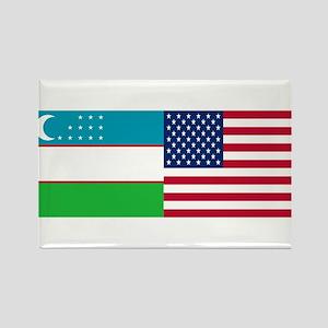 Uzbek and American Rectangle Magnet
