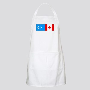 Uyghur and Canadian Flag BBQ Apron