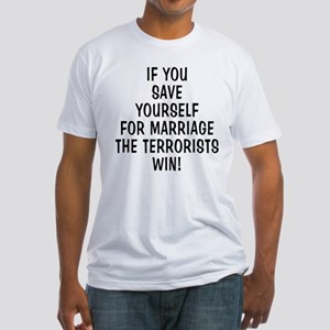 Save Yourself & Terrorists Wi Fitted T-Shirt