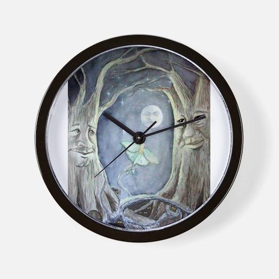 Cute Moon stars Wall Clock