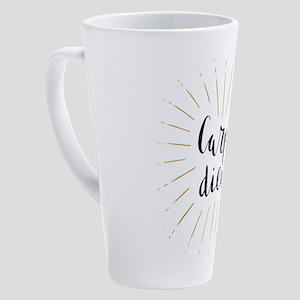 Carpe Diem Starburst 17 oz Latte Mug