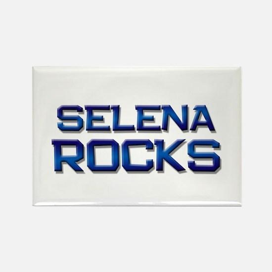 selena rocks Rectangle Magnet