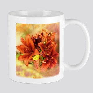 Russet colored Lily Mug
