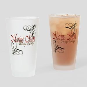 Swirl Marine Mom Drinking Glass