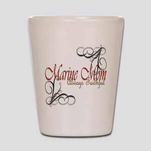 Swirl Marine Mom Shot Glass