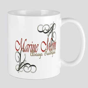 Swirl Marine Mom 11 Oz Ceramic Mug Mugs