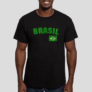 Brazil (Brasil) Vintage Men's Fitted T-Shirt (dark