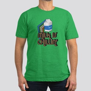 Milk is Chillin' Men's Fitted T-Shirt (dark)
