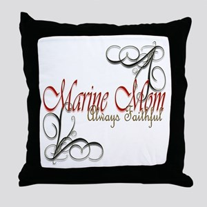 Swirl Marine Mom Throw Pillow