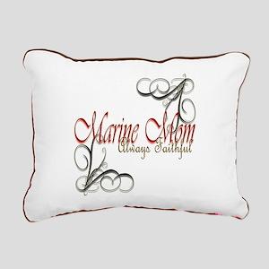 Swirl Marine Mom Rectangular Canvas Pillow