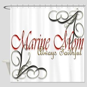 Swirl Marine Mom Shower Curtain