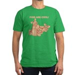 Pigs are Cool Men's Fitted T-Shirt (dark)