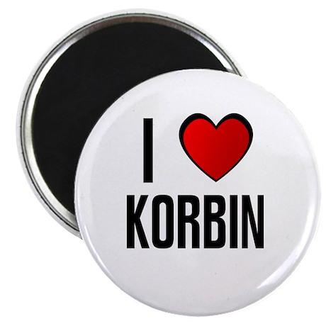 """I LOVE KORBIN 2.25"""" Magnet (100 pack)"""
