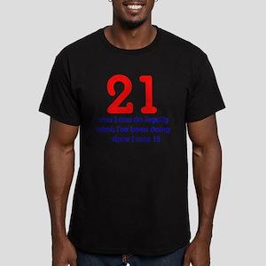 21st Birthday Men's Fitted T-Shirt (dark)