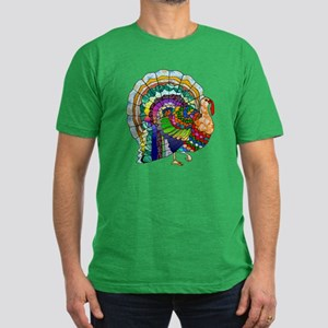 Patchwork Thanksgiving Turkey Men's Fitted T-Shirt