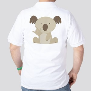 I Love You Koala Golf Shirt