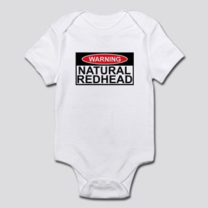 Irish redhead warning sign Infant Bodysuit