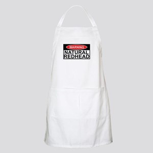 Irish redhead warning sign BBQ Apron
