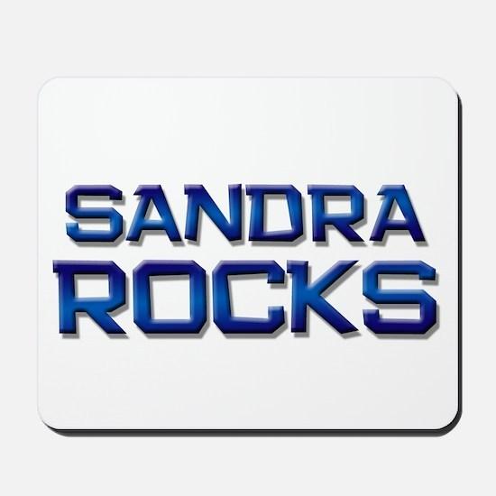 sandra rocks Mousepad