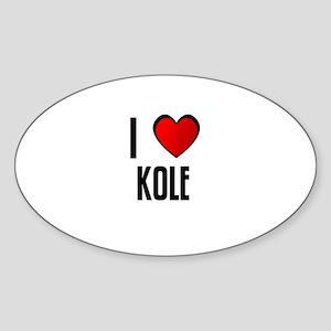 I LOVE KOLE Oval Sticker