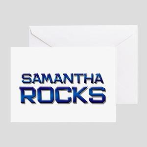 samantha rocks Greeting Card