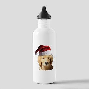 Christmas Golden Retri Stainless Water Bottle 1.0L