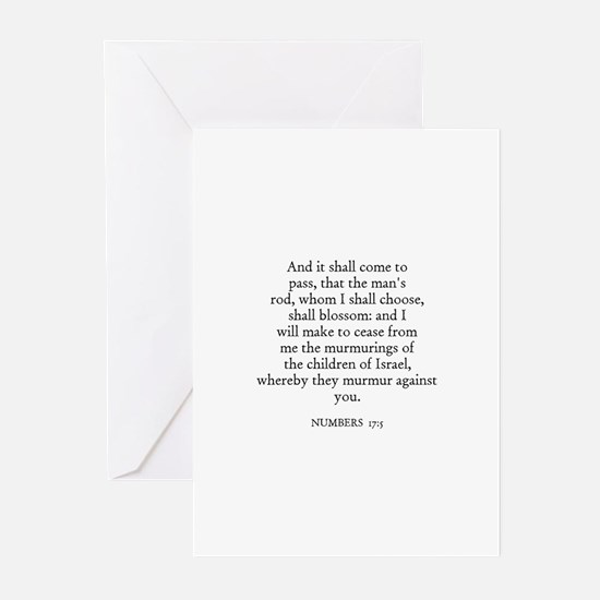 NUMBERS  17:5 Greeting Cards (Pk of 10)