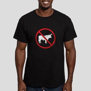 No Bull! Men's Fitted T-Shirt (dark)