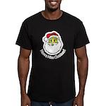 Santa Smiley (1) Men's Fitted T-Shirt (dark)