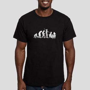 Computer Evolution Men's Fitted T-Shirt (dark)