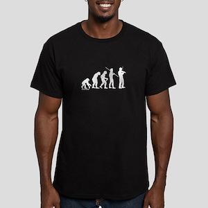 Violin Evolution Men's Fitted T-Shirt (dark)