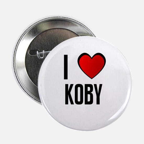 I LOVE KOBY Button