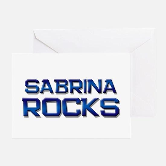 sabrina rocks Greeting Card
