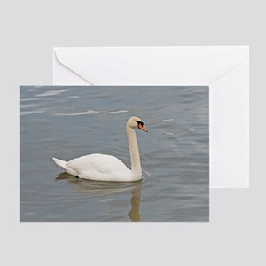 Pure White Swan Greeting Card