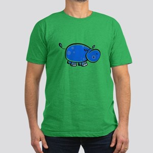 Bright Blue Hippo Men's Fitted T-Shirt (dark)