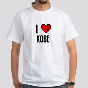 I LOVE KOBE White T-Shirt