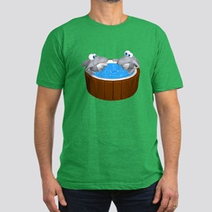 Sharks in a Hot Tub Men's Fitted T-Shirt (dark)