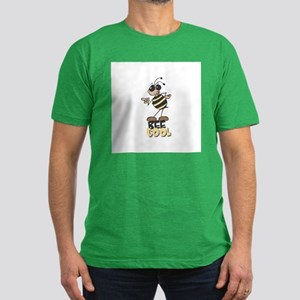 Be Cool Bee Men's Fitted T-Shirt (dark)