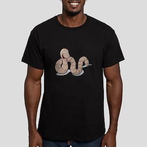 Cute Little Earthworm Men's Fitted T-Shirt (dark)
