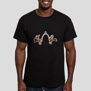 Turkeys Making Wish (Wishbone Men's Fitted T-Shirt