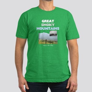 Smoky Mountains Americ Men's Fitted T-Shirt (dark)