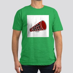 Red Cheer Megaphone Men's Fitted T-Shirt (dark)